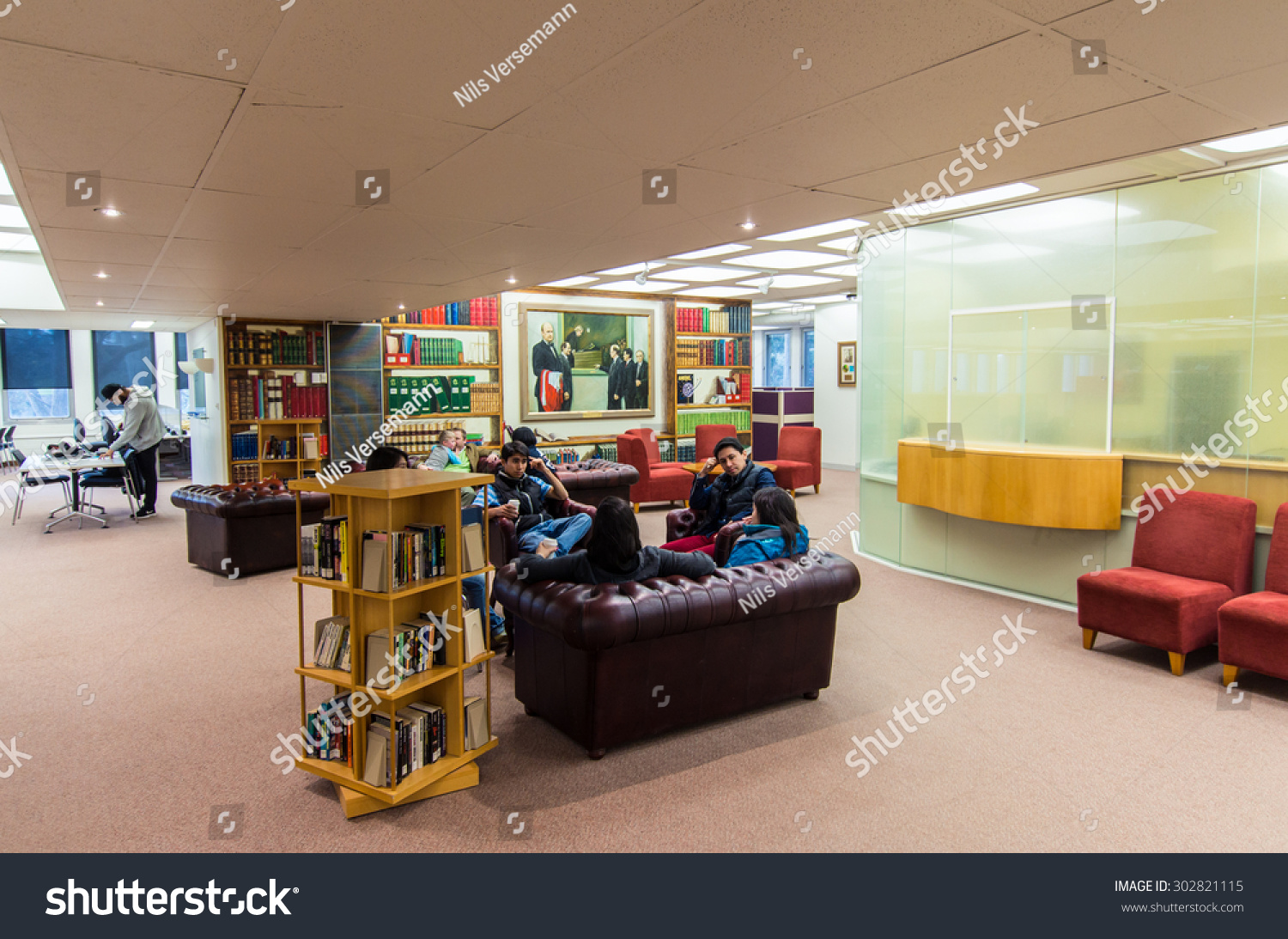 Library Furniture Australia Melbourne Australia August 2 2015 Law Stock Photo Edit Now