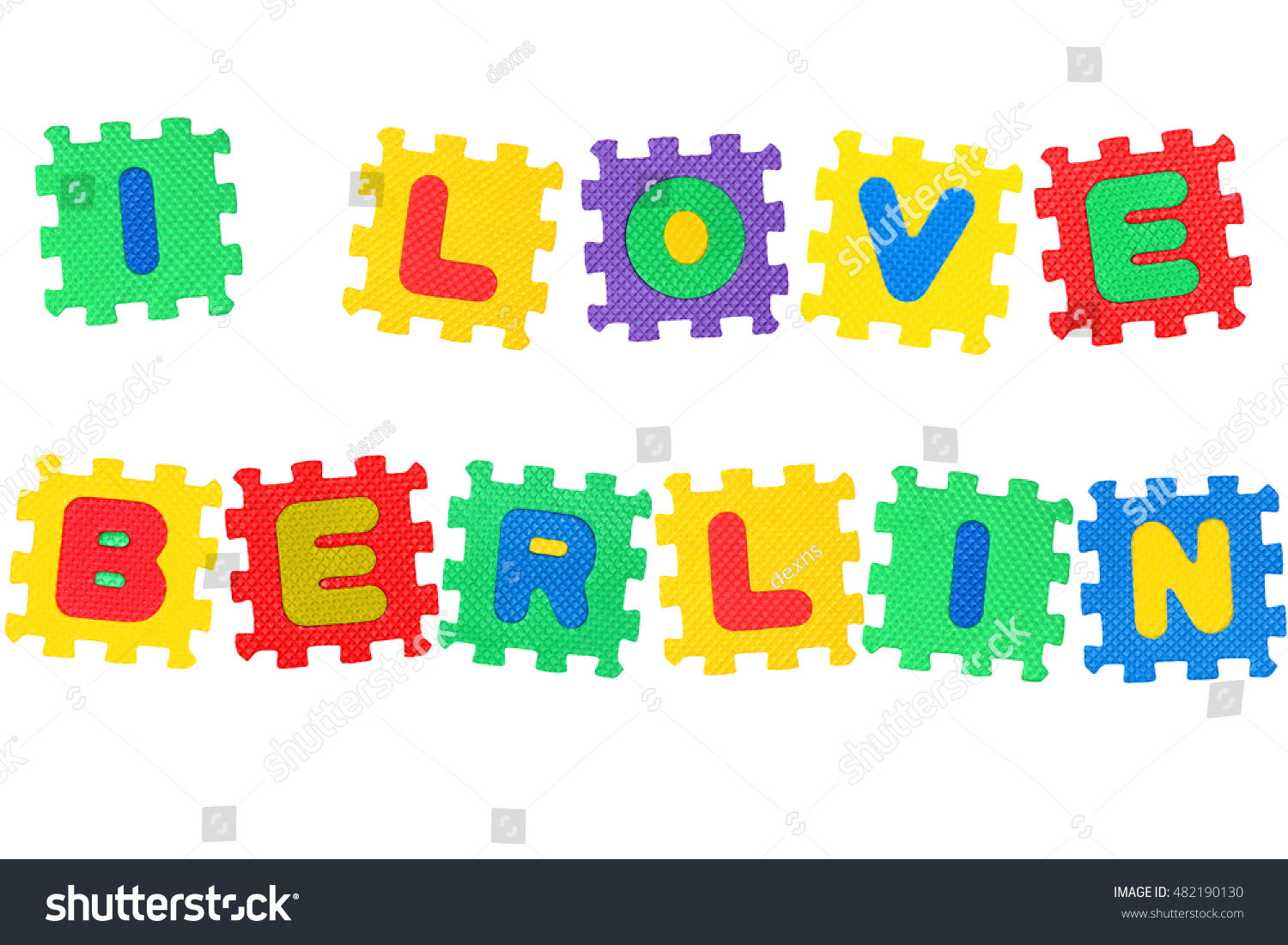 Berlin Puzzle Message Love Berlin Letters Puzzle Isolated Stock Photo Edit Now