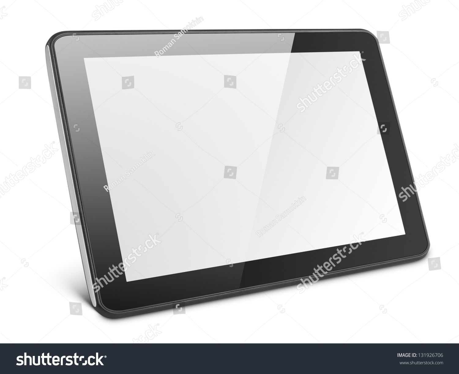 Tablett Modern Modern Black Tablet Pc Isolated On Stock Photo 131926706