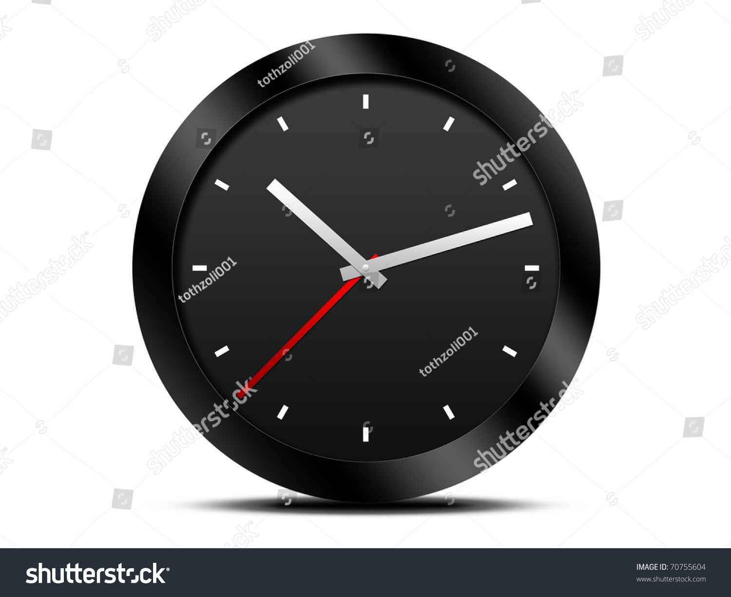 Black Modern Wall Clock Modern Black Wall Clock Stock Photo 70755604 Shutterstock