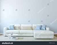 Modern Livingroom Interior White Couch Near Stock ...