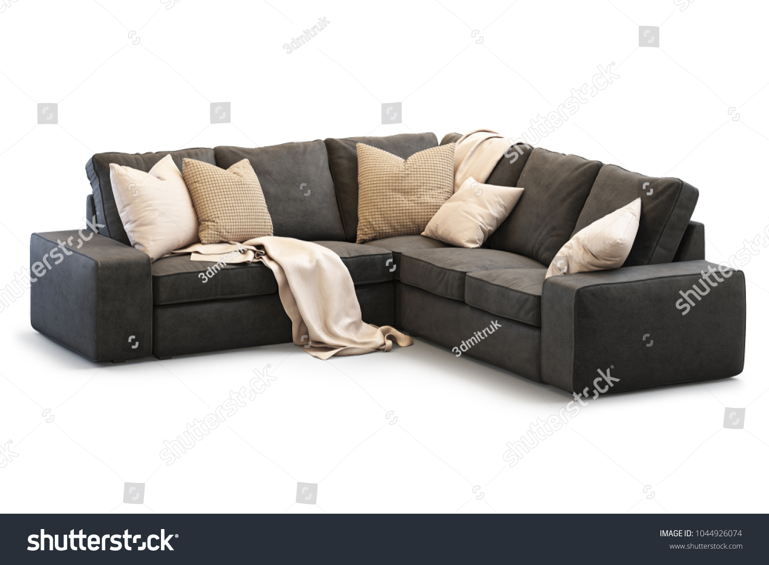 Kivik Sofa Leather Modern Textile Ikea Kivik Sofa Gold Stock Illustration 1044926074