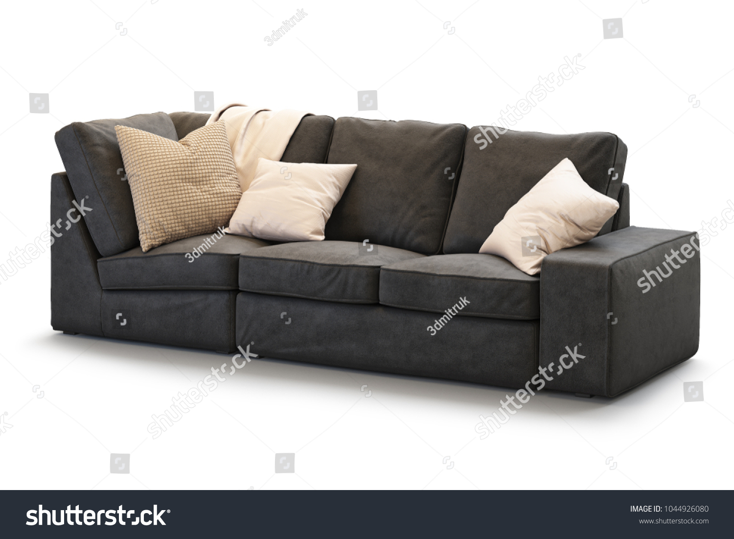 Ikea Kivik Sofa Modern Textile Ikea Kivik Sofa Gold Stock Illustration Royalty