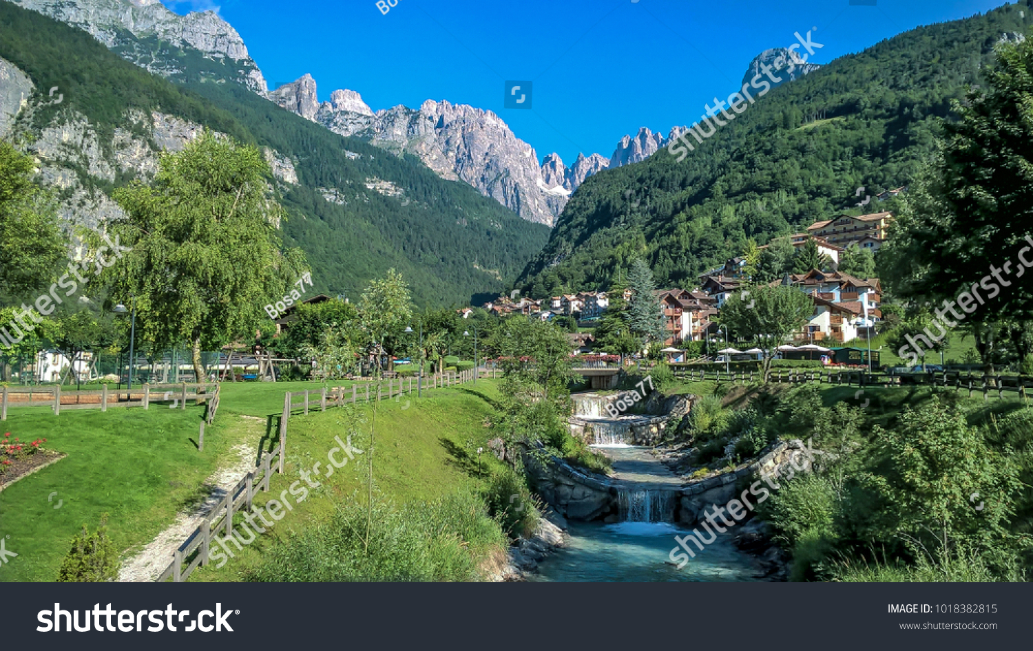 Molveno Camping Molveno Lake View Stock Photo Edit Now 1018382815 Shutterstock
