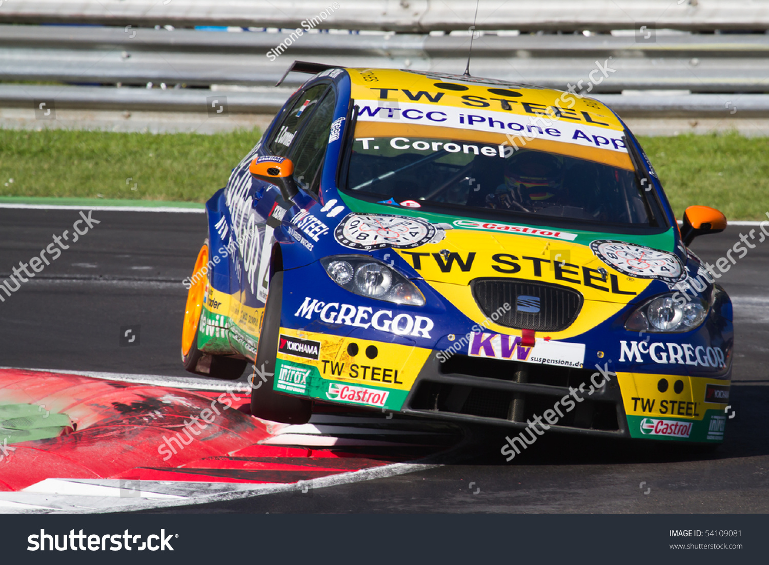 Tom Coronel Monza Italy May 22 Tom Coronel Stock Photo Edit Now 54109081