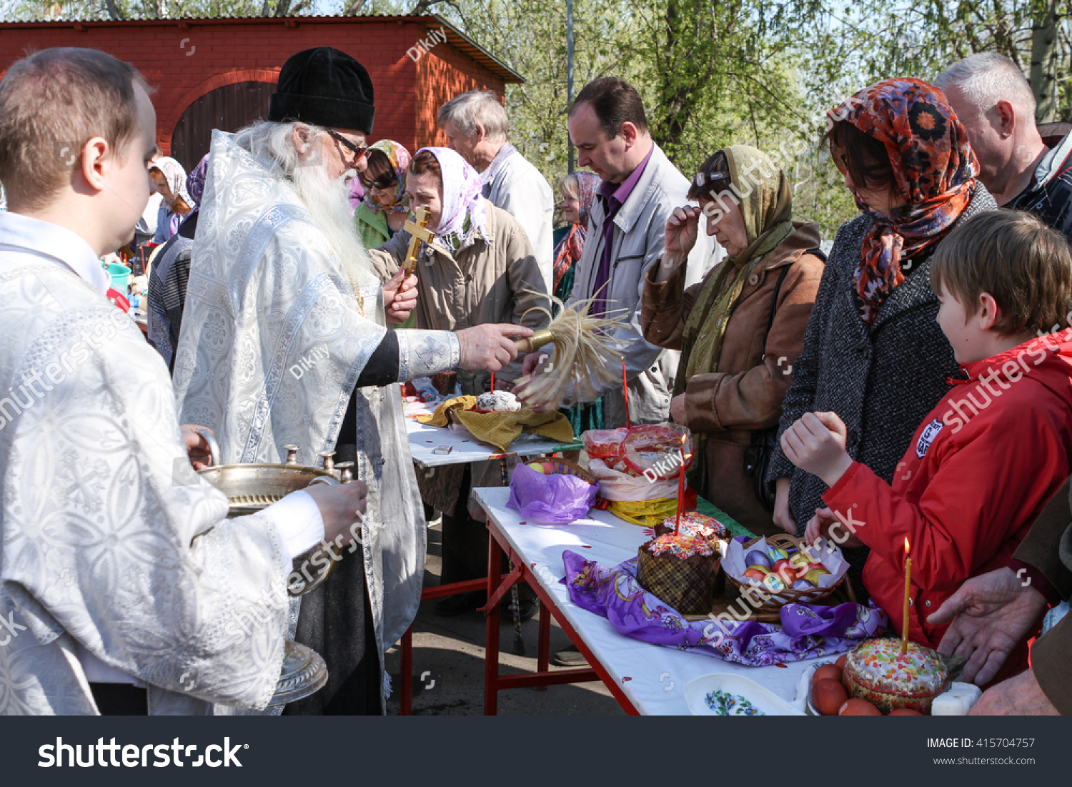 Stock Cuisine Saint Priest Moscow April 30 2016 Orthodox Priest Stock Photo Edit Now