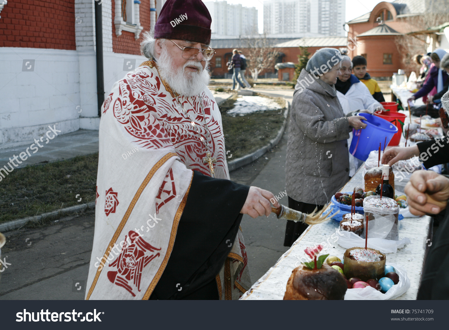 Stock Cuisine Saint Priest Moscow April 3 Orthodox Priest Spatter Stock Photo Edit Now