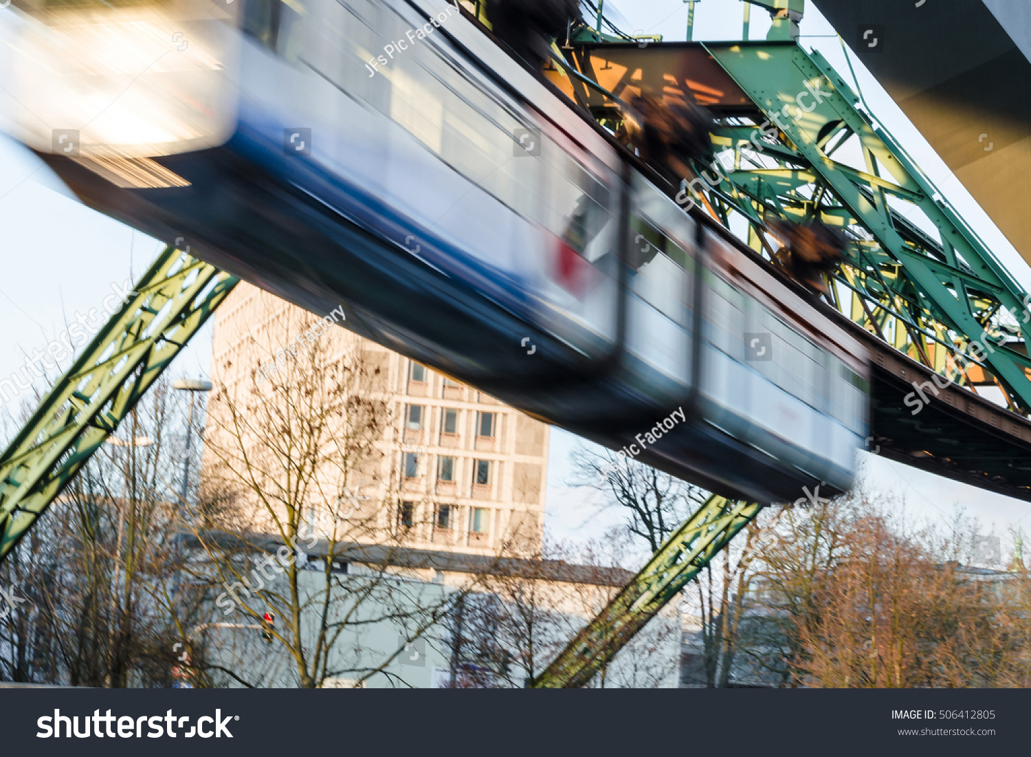 Tomato Wuppertal Motion Blur Intentional Train Wuppertal Suspension Stock Photo