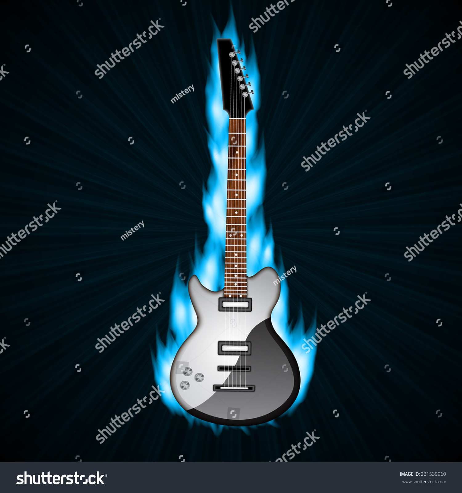 Rock Music Cover Royalty Free Stock Illustration Of Music Background Fire Rock