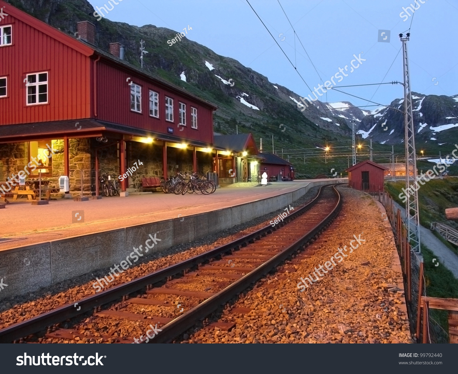 Norway Train Myrdal Railway Station Norway Stock Photo Edit Now 99792440