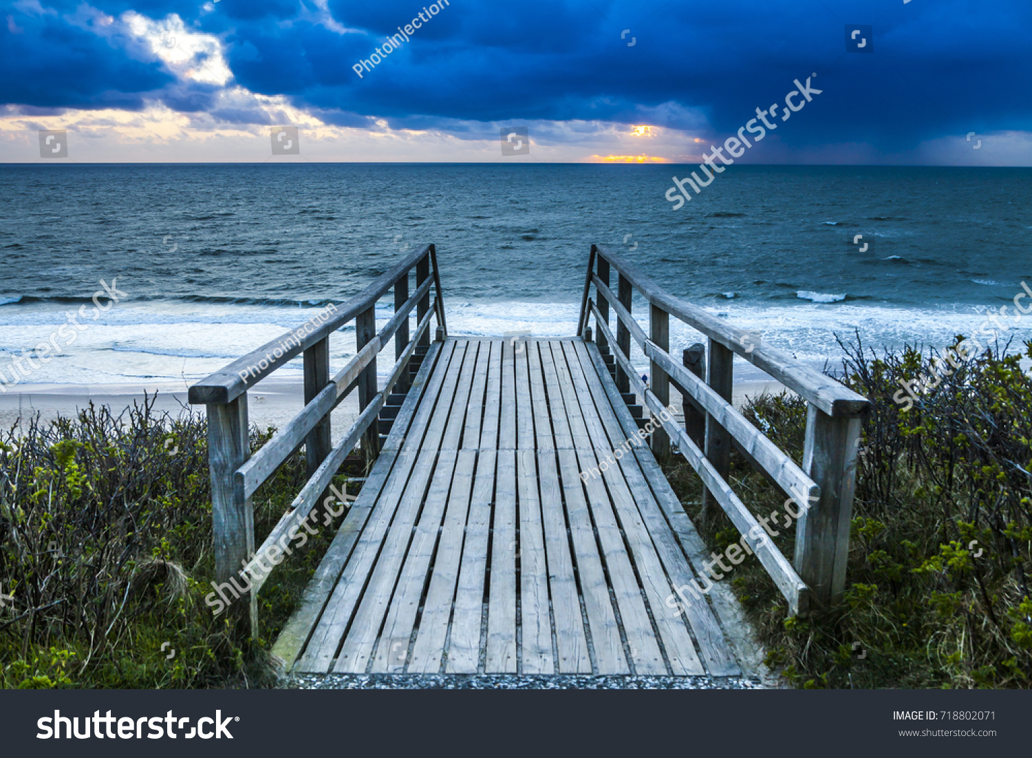 Sun Garden Sylt Mystical Twilight On Sylt Coast Storm Stock Photo Edit Now