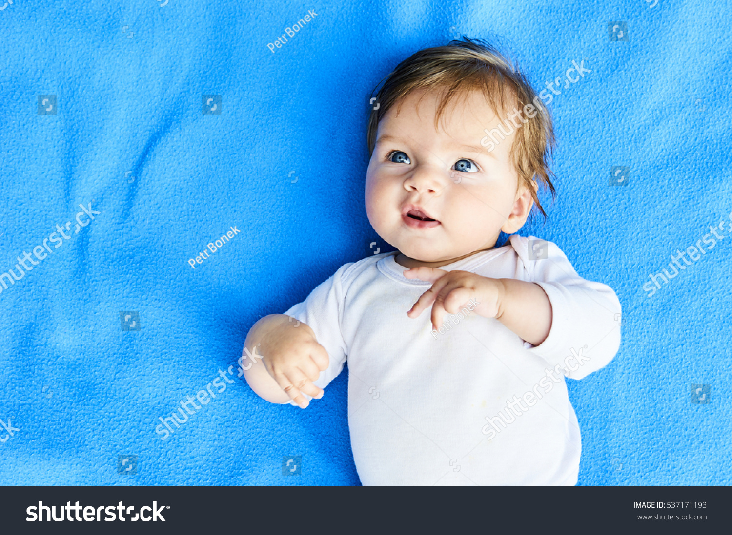 Newborn Babies With Blue Eyes Newborn Baby Girl Blue Eyes Beautiful Stock Photo Edit Now
