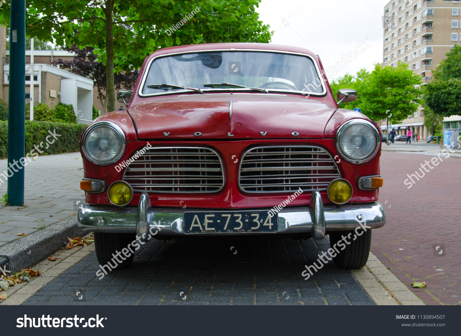 Volvo Dealer Delft Oegstgeest Netherlands 09072018 Red Old Volvo Stock Photo Edit