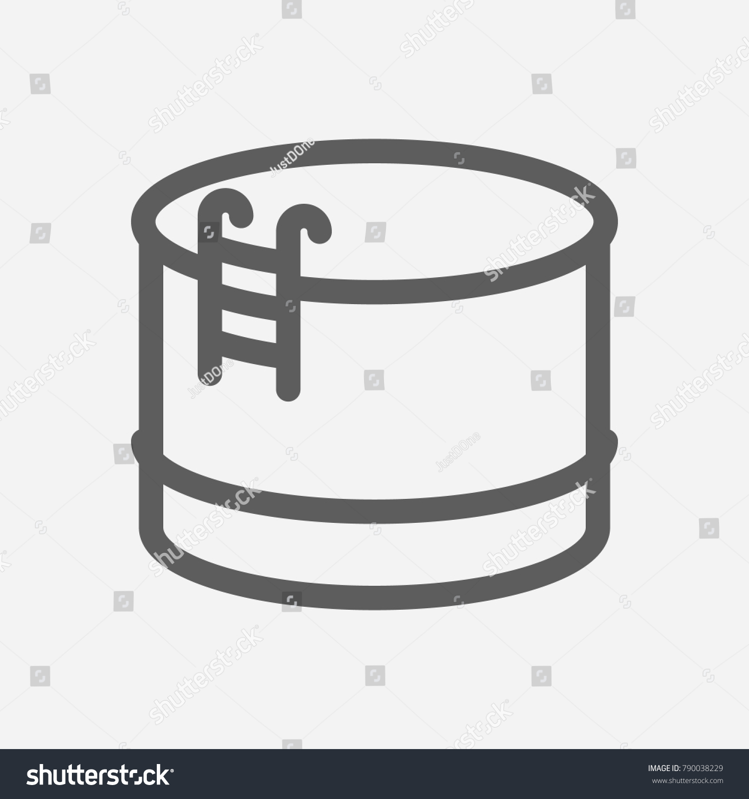 Jalousie Petrol Oil Warehouse Icon Line Symbol Isolated Stock Illustration