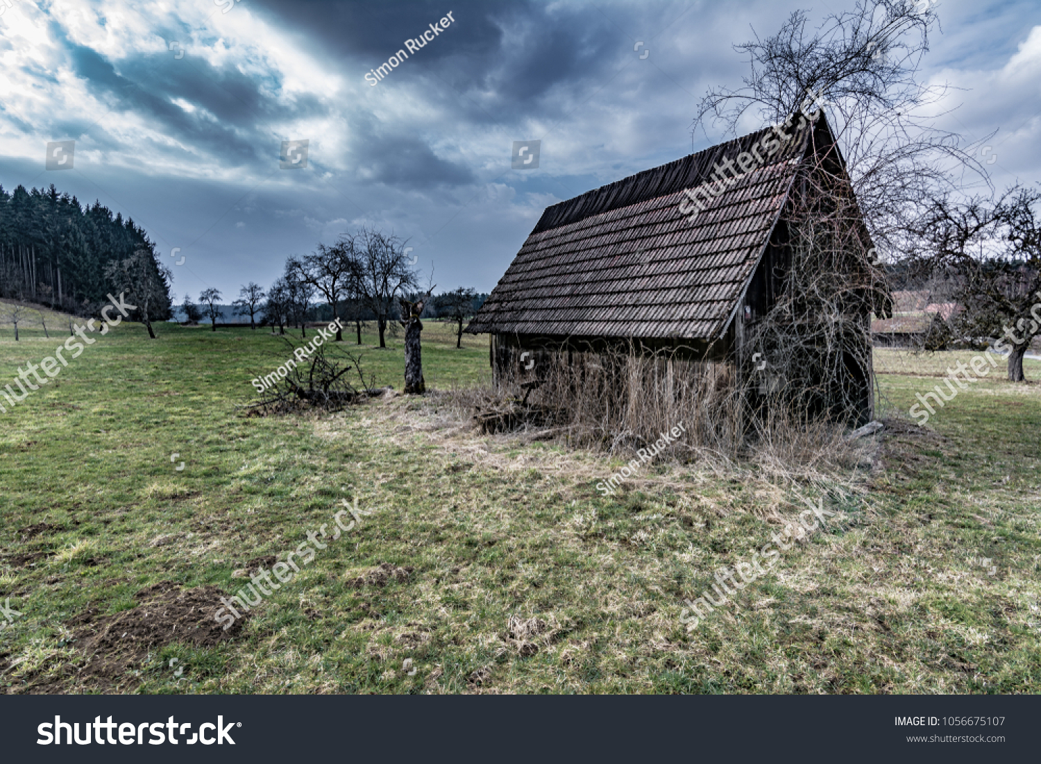 Old Barn On Farmland Black Forest Stock Photo Edit Now 1056675107