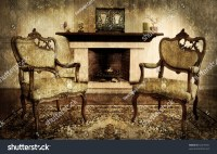 Old Style Living Room Chimney Stock Photo 52416931 ...