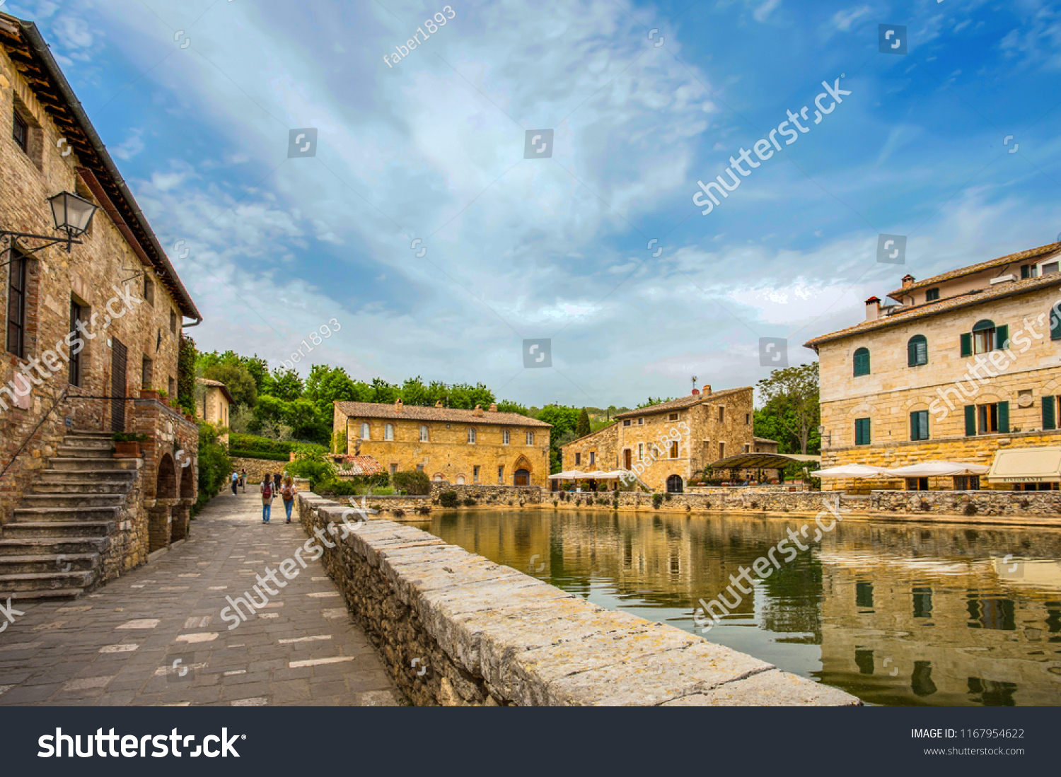 Bagno Yorkshire Old Thermal Baths Medieval Village Bagno Stock Photo Edit