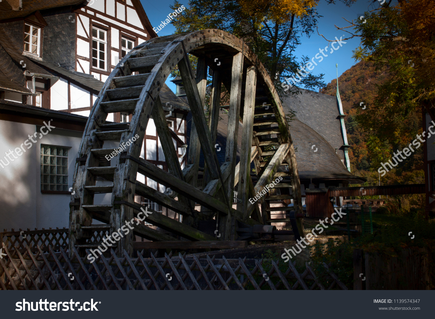 Bad Stein Old Water Wheel Bad Muenster Stein Stock Photo Edit Now