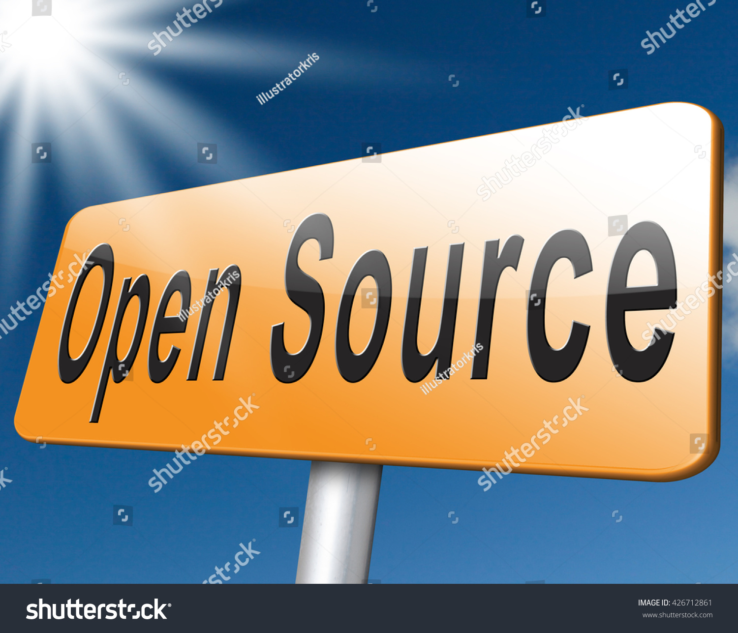 Freeware Banking Software Royalty Free Stock Illustration Of Open Source Program Software