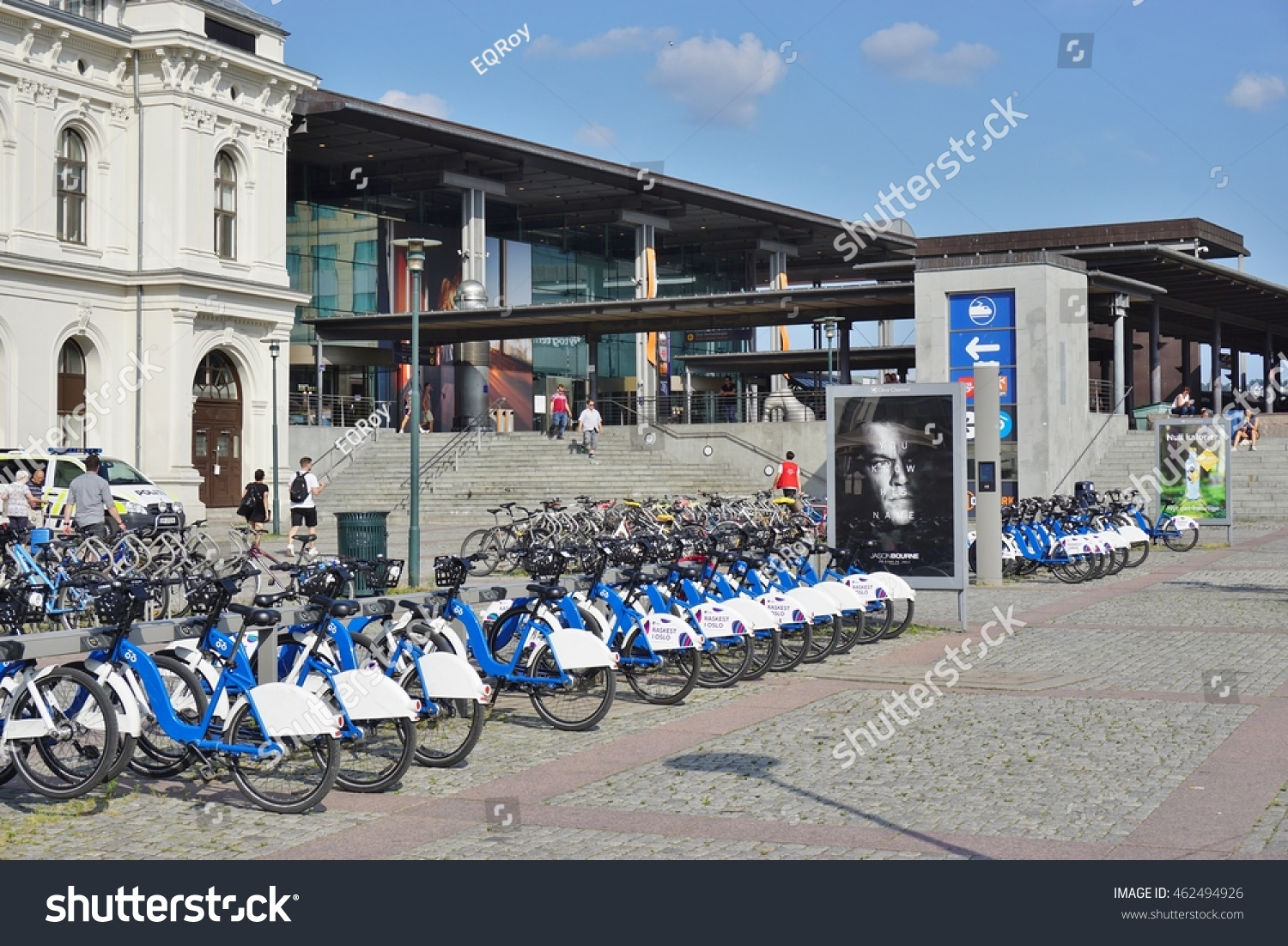 Norwegian Oslo Oslo Norway 30 July 2016 Bicycles Stock Photo Edit Now 462494926