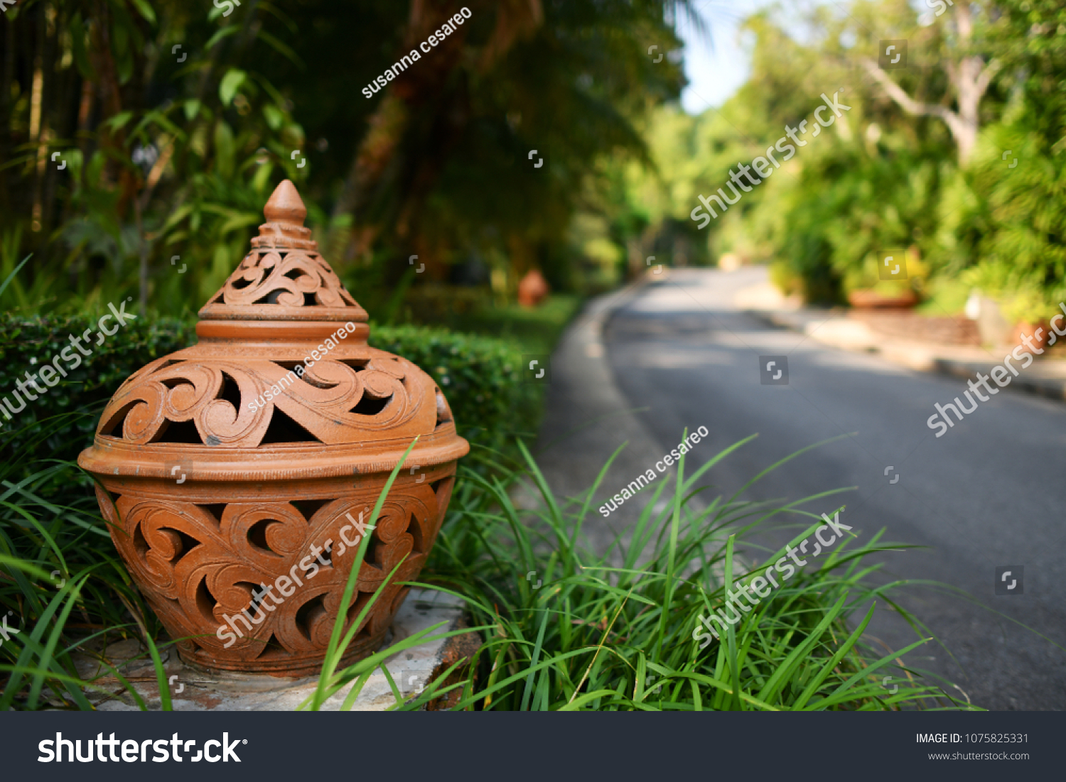 Ludwigsburg Terrakotta Outdoor Terracotta Light Holder Stock Photo Edit Now 1075825331