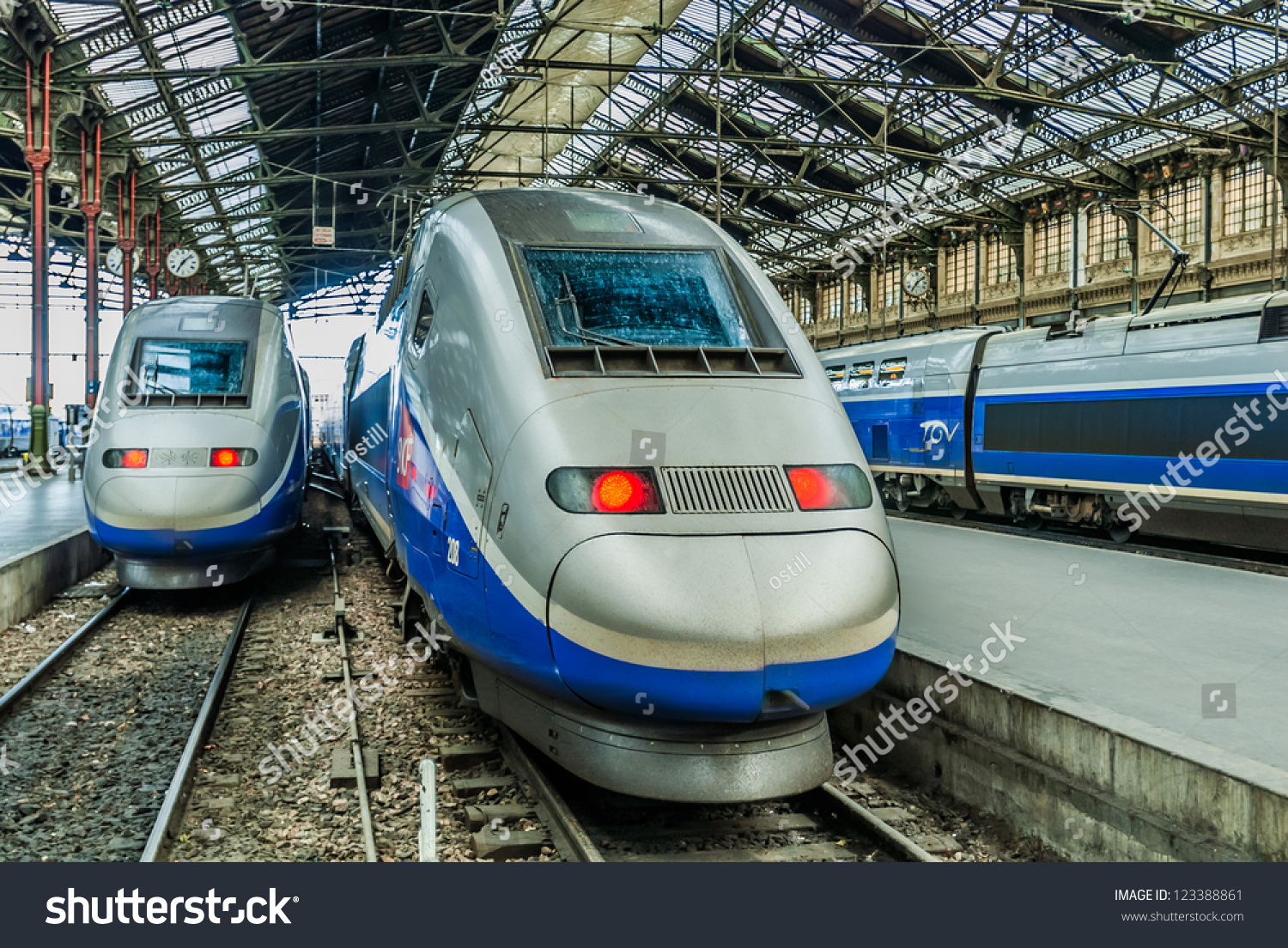 Paris Train Paris France July 7 Tgv High Stock Photo Edit Now 123388861