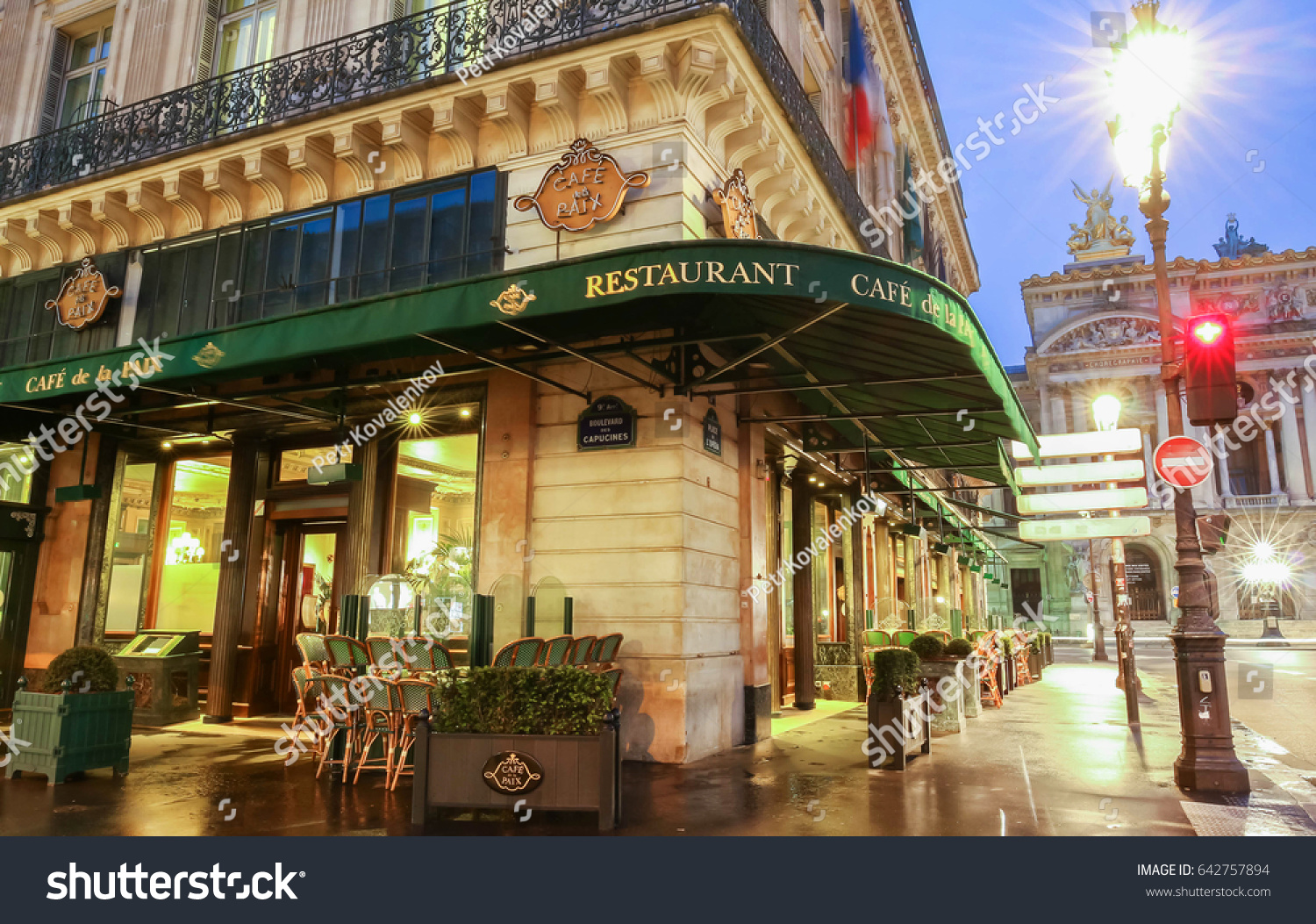 Café Des Capucines Paris Paris France May 08 2017 Famous Cafe Stock Photo Edit Now