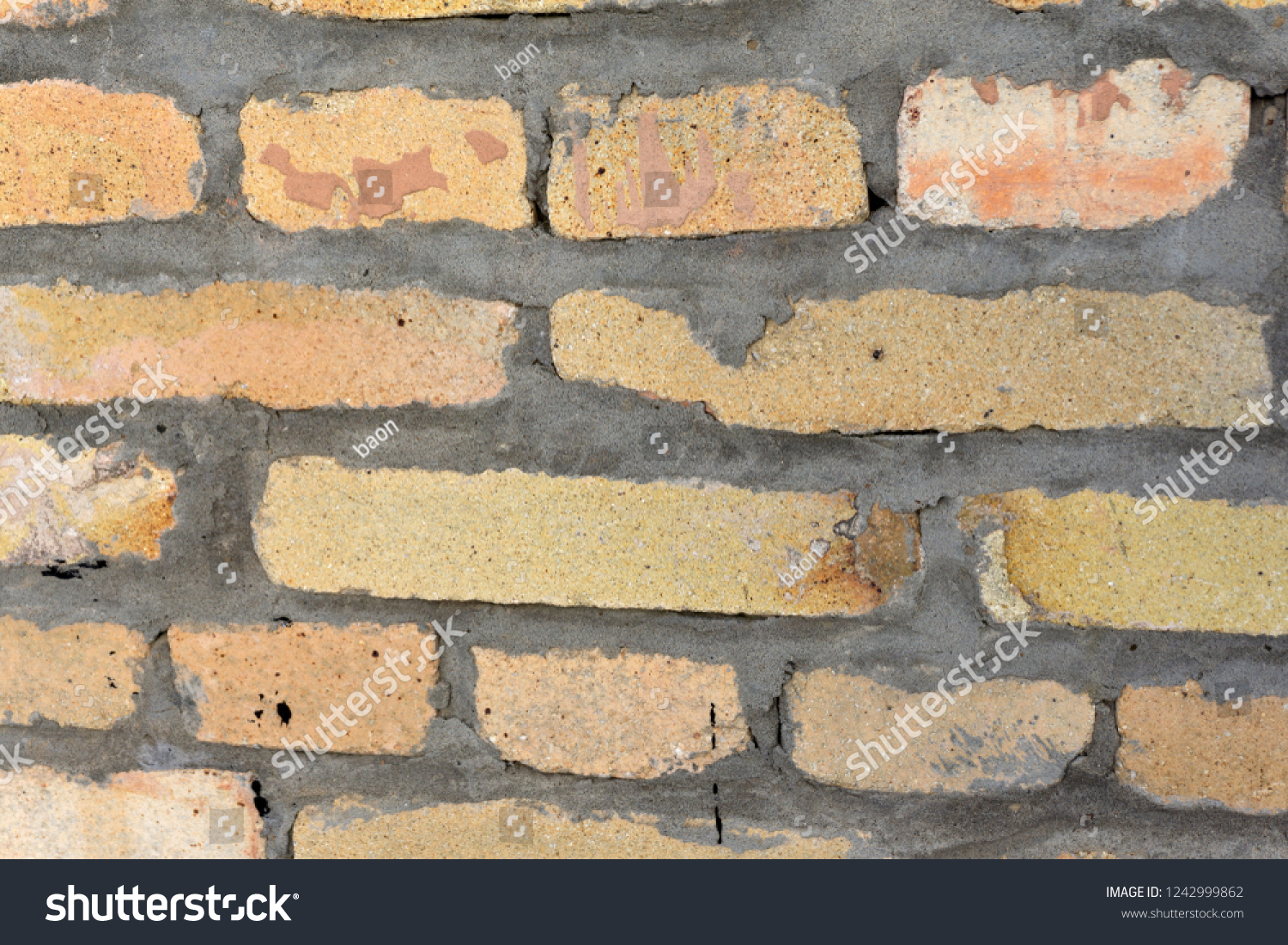 Refractory Brick Part Wall Refractory Bricks Peach Color Stock Photo Edit Now