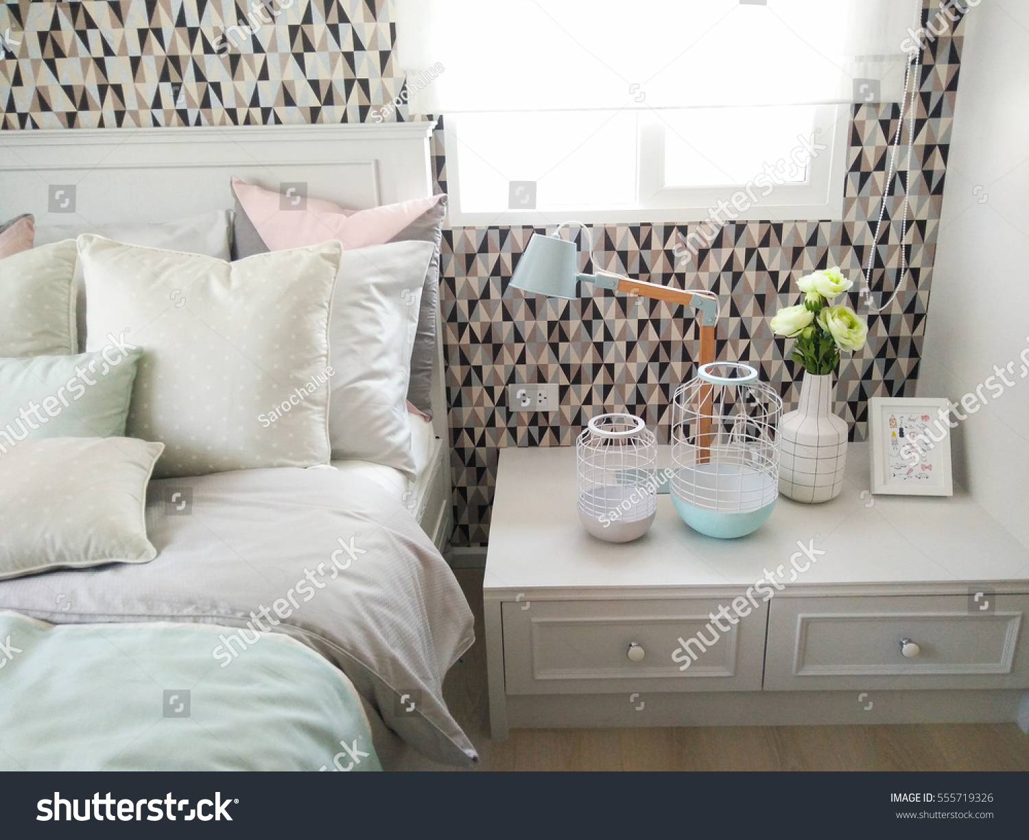 Pastel Bedroom Ideas Pastel Bedroom Decorating Ideas Stock Photo Edit Now 555719326