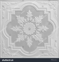 Patterns On Ceiling Gypsum Sheets Stock Photo 263685821 ...