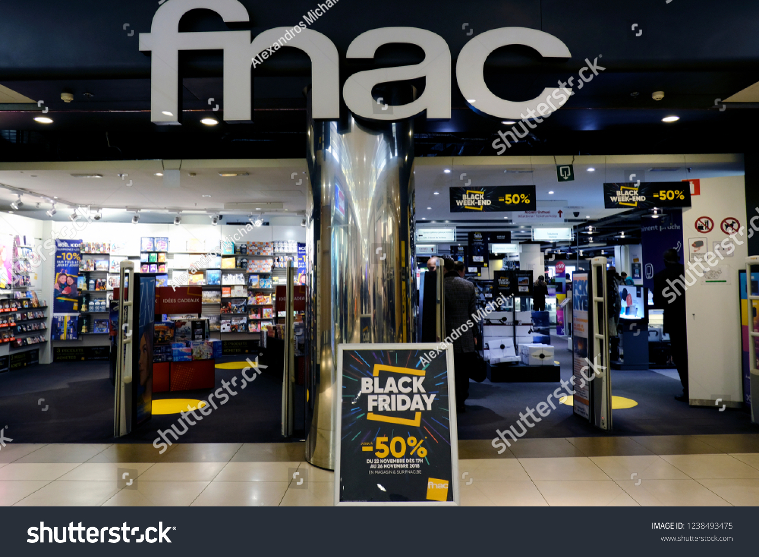 Store En Stock People Enter Fnac Store Brussels Belgium Stock Photo Edit Now