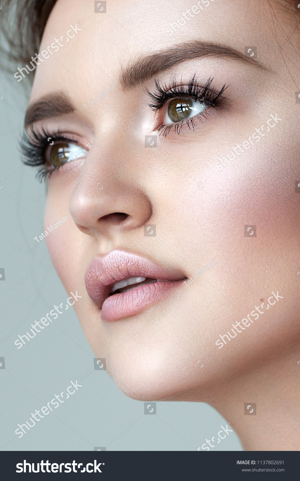 Nude Look Perfect Model Fresh Natural Look Nude Stock Photo (edit Now) 1137802691