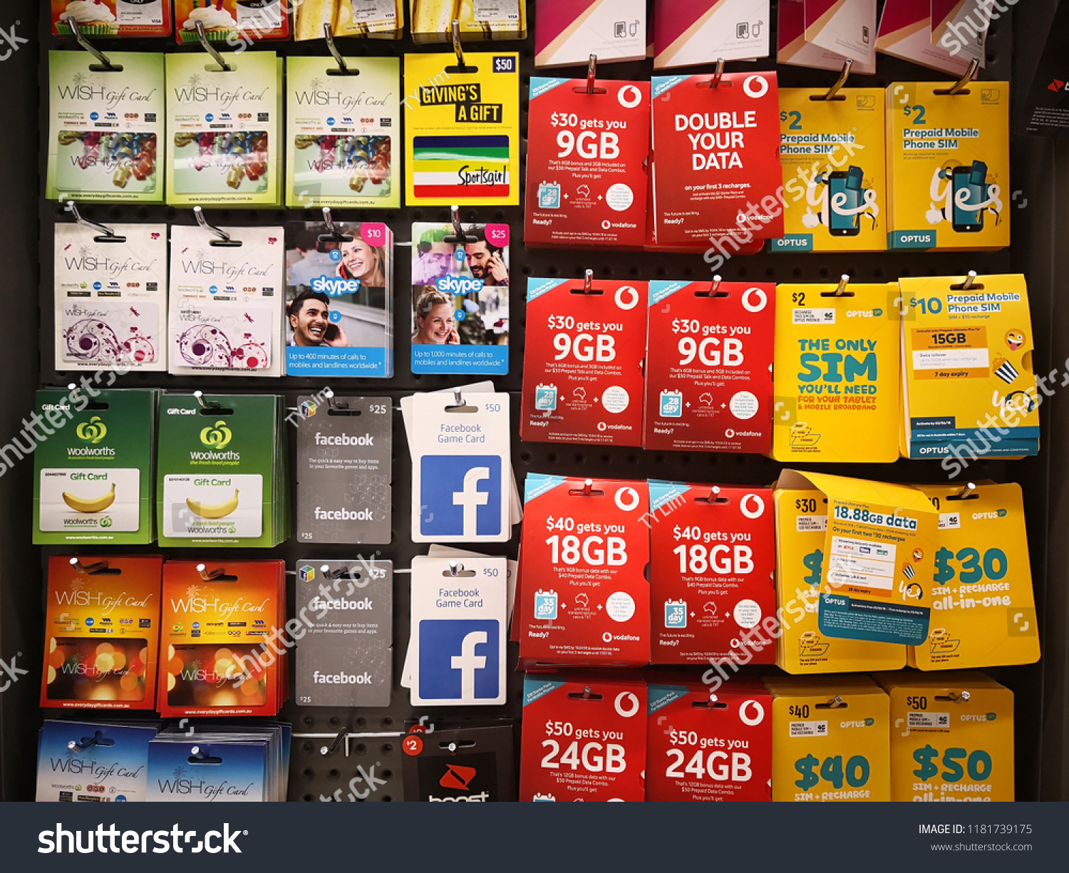 Gift Card Woolworths Perth Australia June 11 2018 Various Stock Photo Edit Now