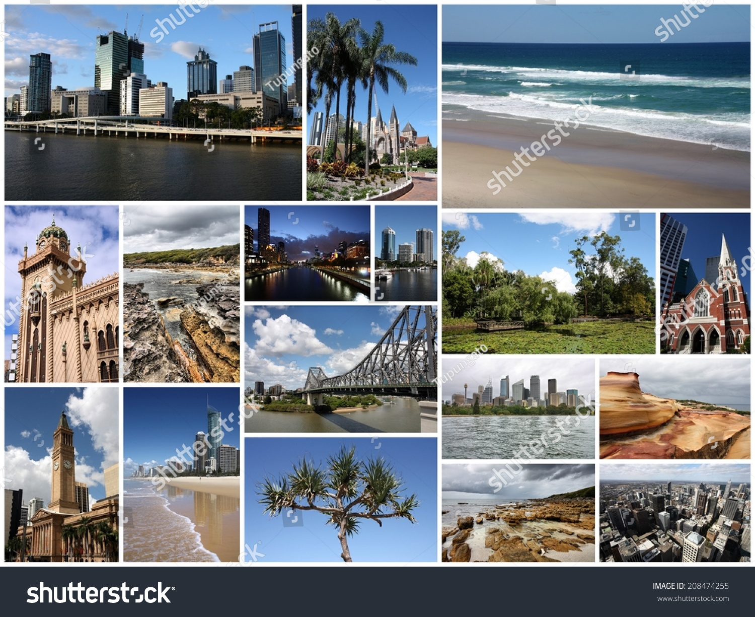 Collage Frames Australia Photo Collage Australia Collage Includes Major Stock Photo