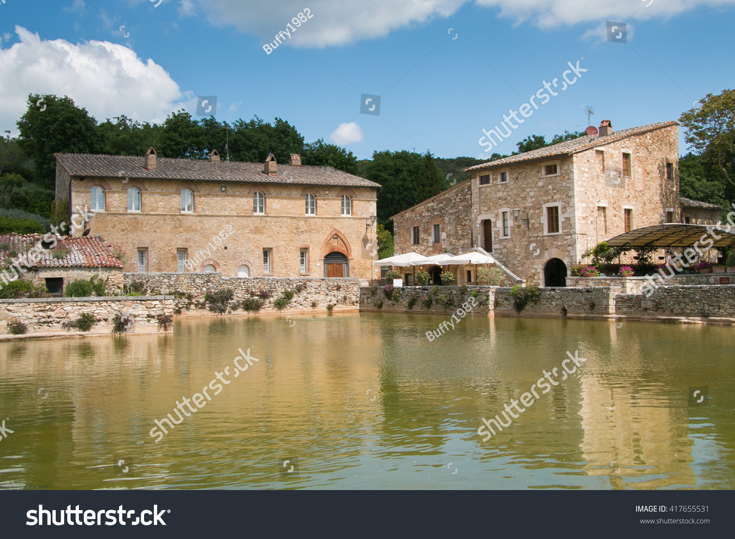 Bagno Vignoni Free Thermal Baths Photo Famous Thermal Baths Medieval Village Stock Photo Edit Now