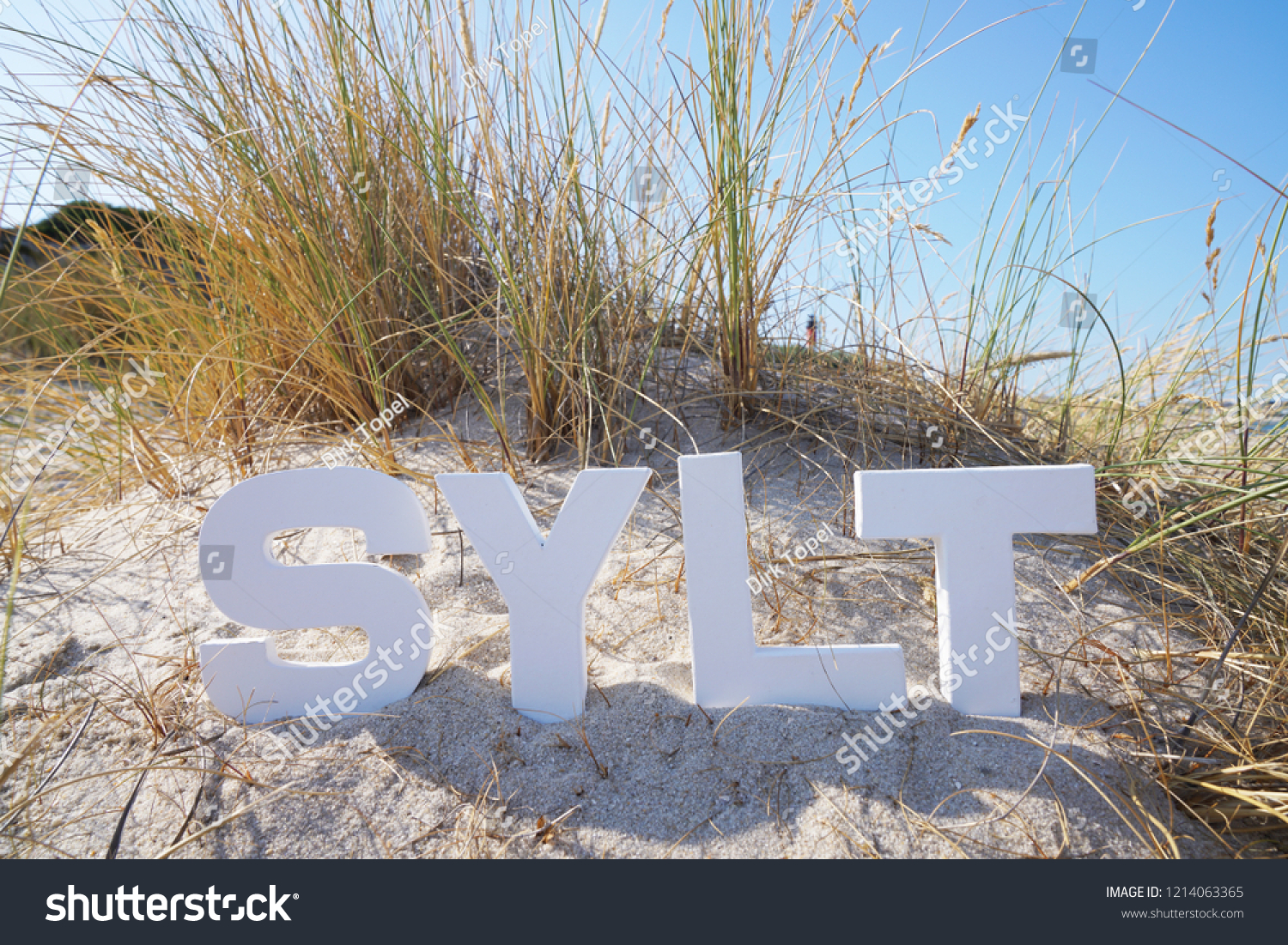 Sun Garden Sylt Photo Witk Sylt Letters Sand Dunes Stock Photo Edit Now