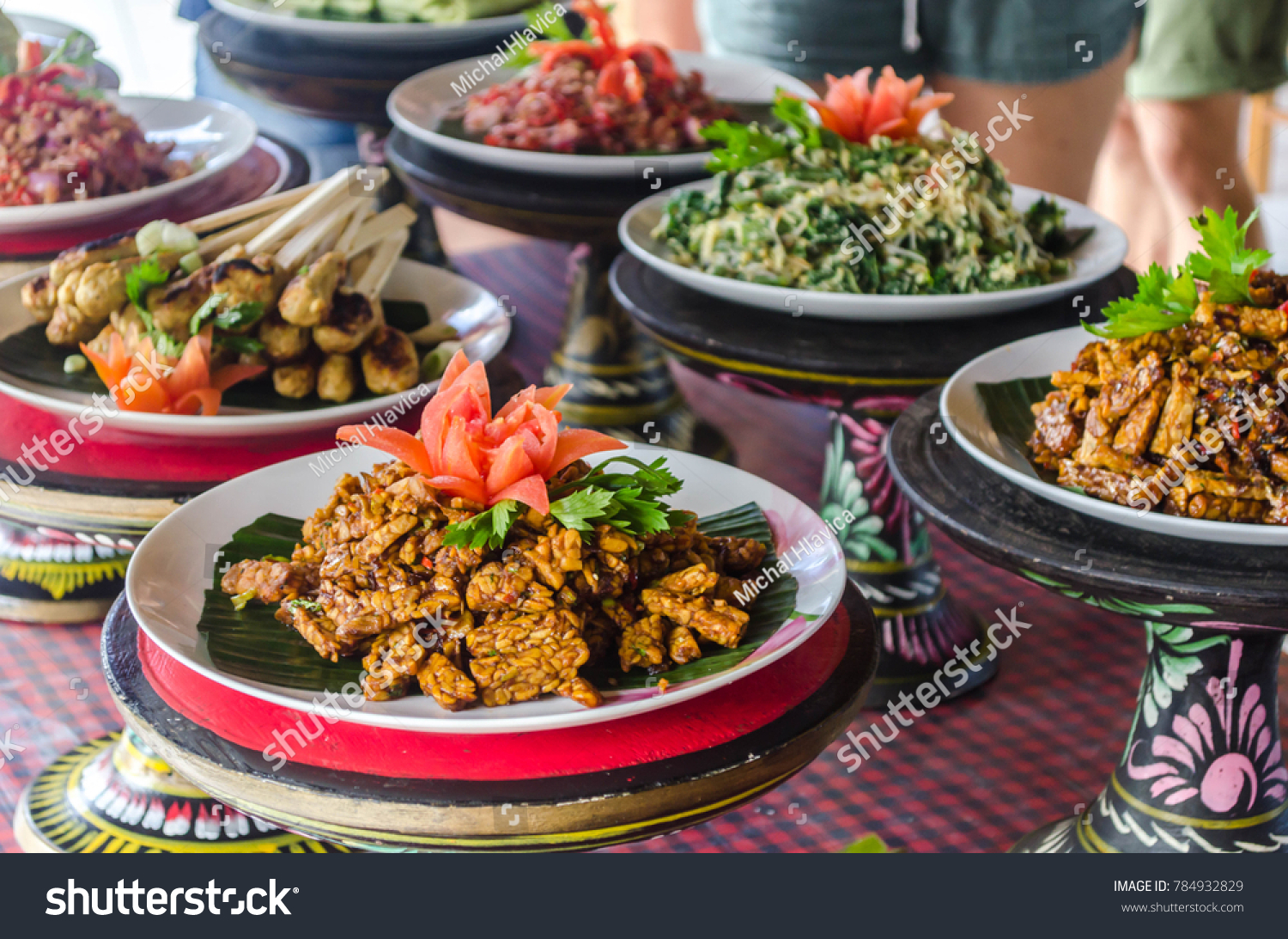 Cuisine Bali Picture Food Done During Cooking Class Stock Photo Edit Now