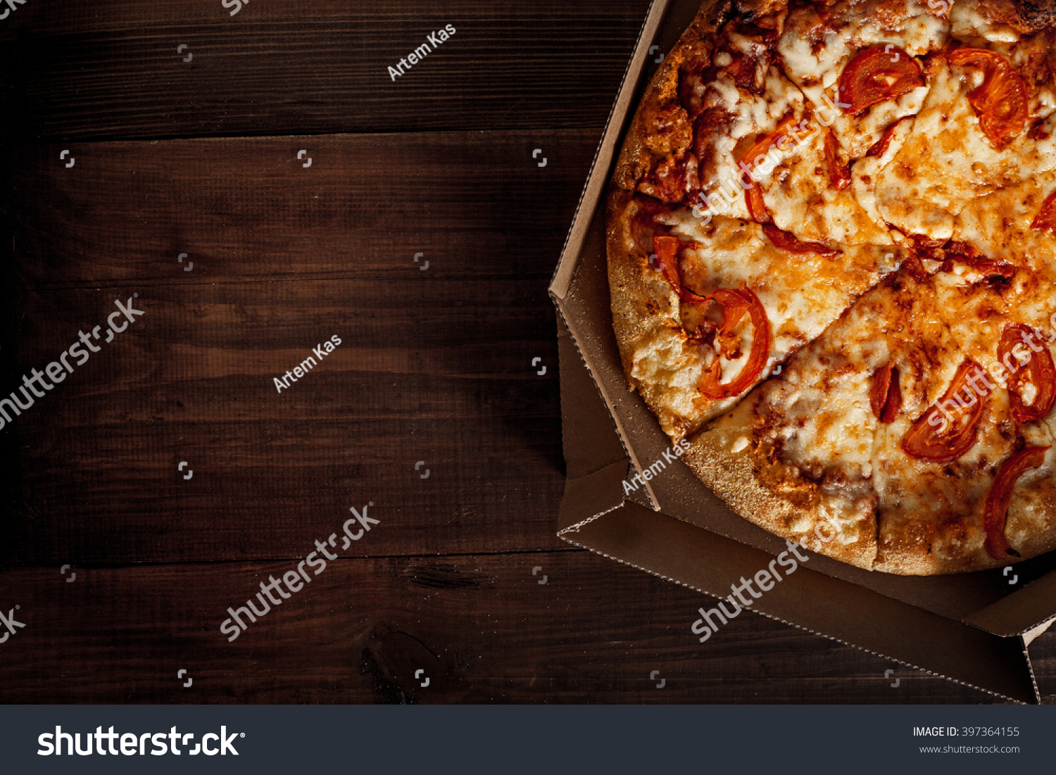 Pizza Delivery Box You Can Put Stock Photo 397364155
