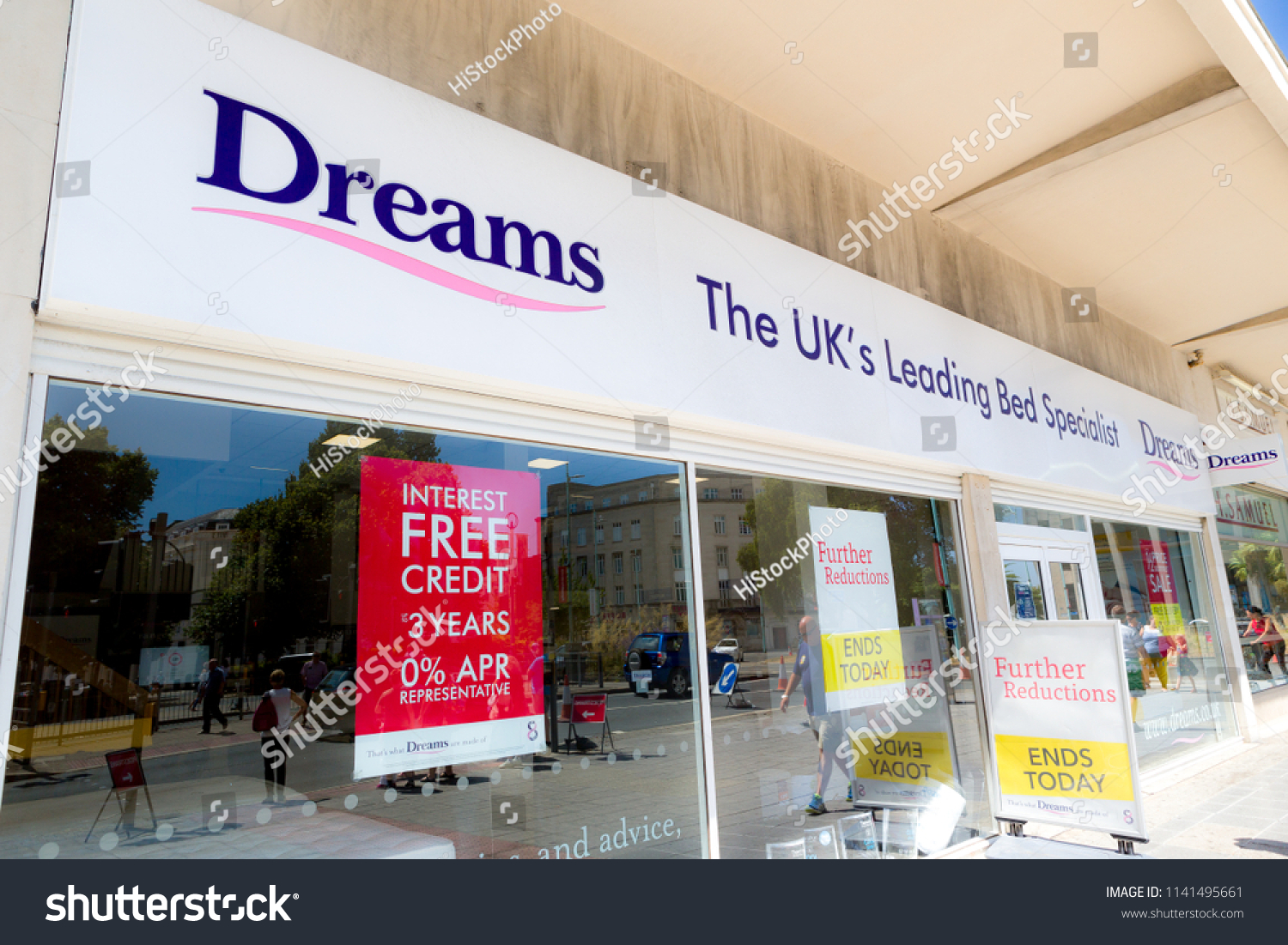 Dreams Beds Northampton Plymouth Uk 72418 Front Dreams Shop Stock Photo Edit Now