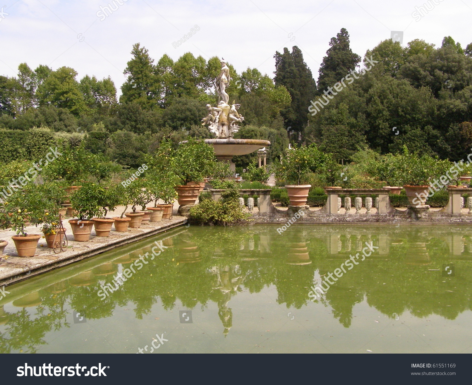 Giardino Firenze Pool Italian Garden Giardino Di Boboli Stock Photo Edit Now