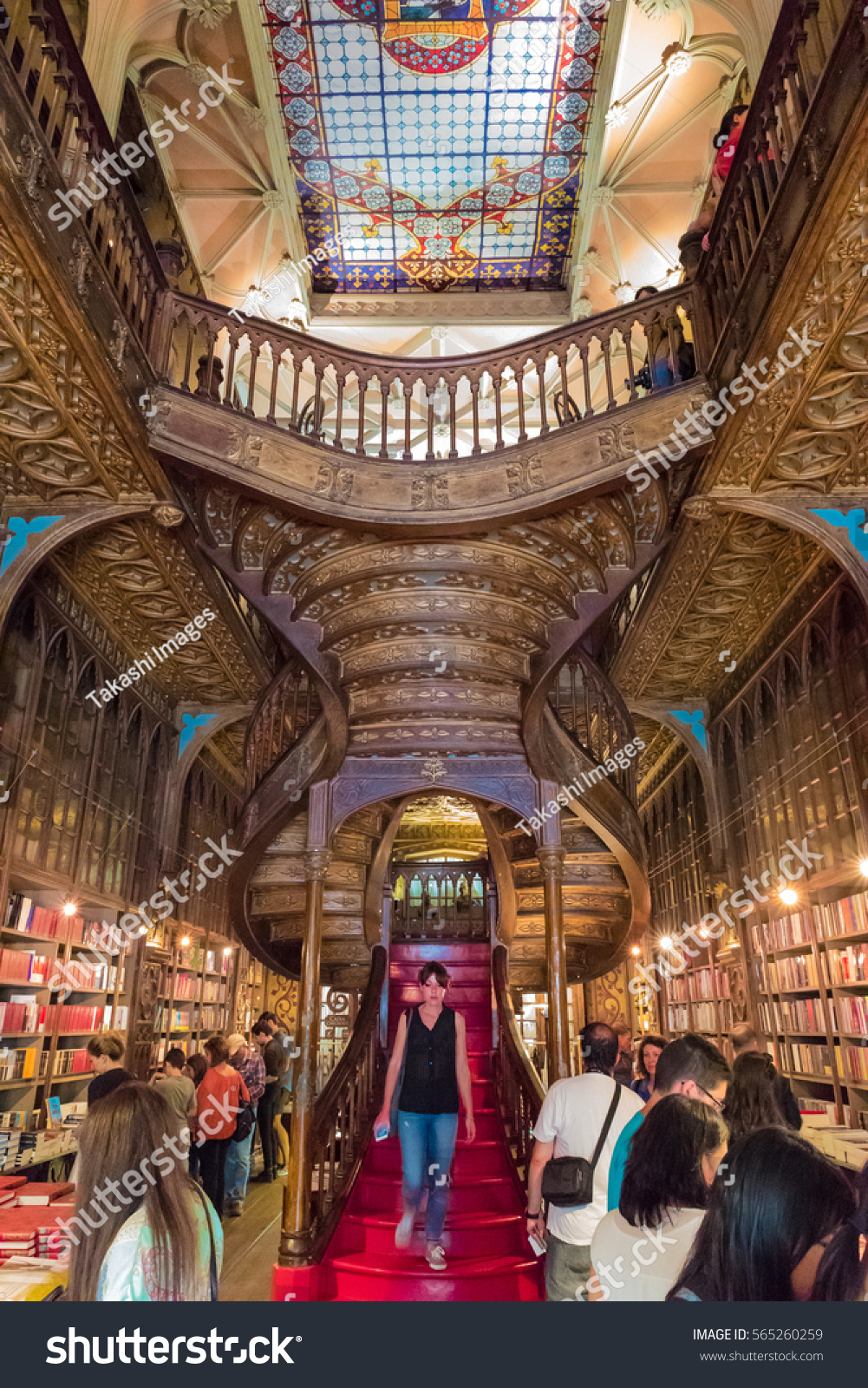 Librería Lello E Irmao Porto Portugal June 12 Livraria Lello Stock Photo Edit Now
