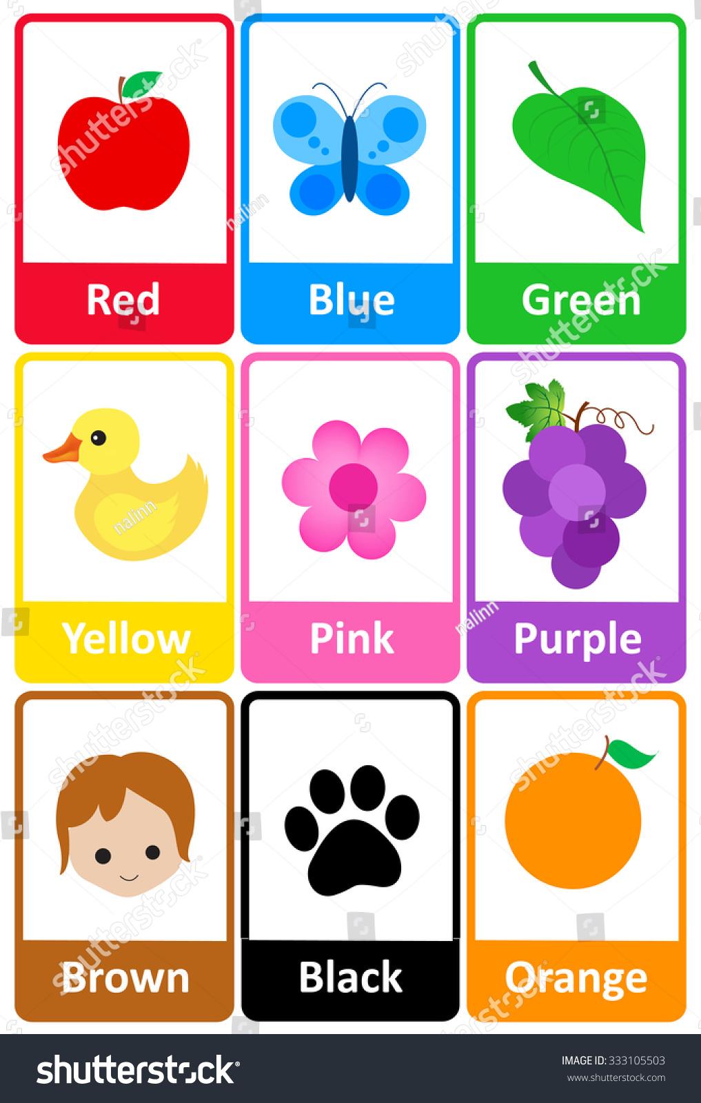 Color cards for kids - Color Cards For Kids 1