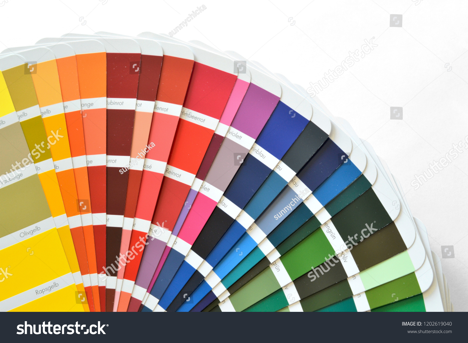 Ral Cmyk Ral Color Fan Cmyk Color Book Stock Photo Edit Now 1202619040