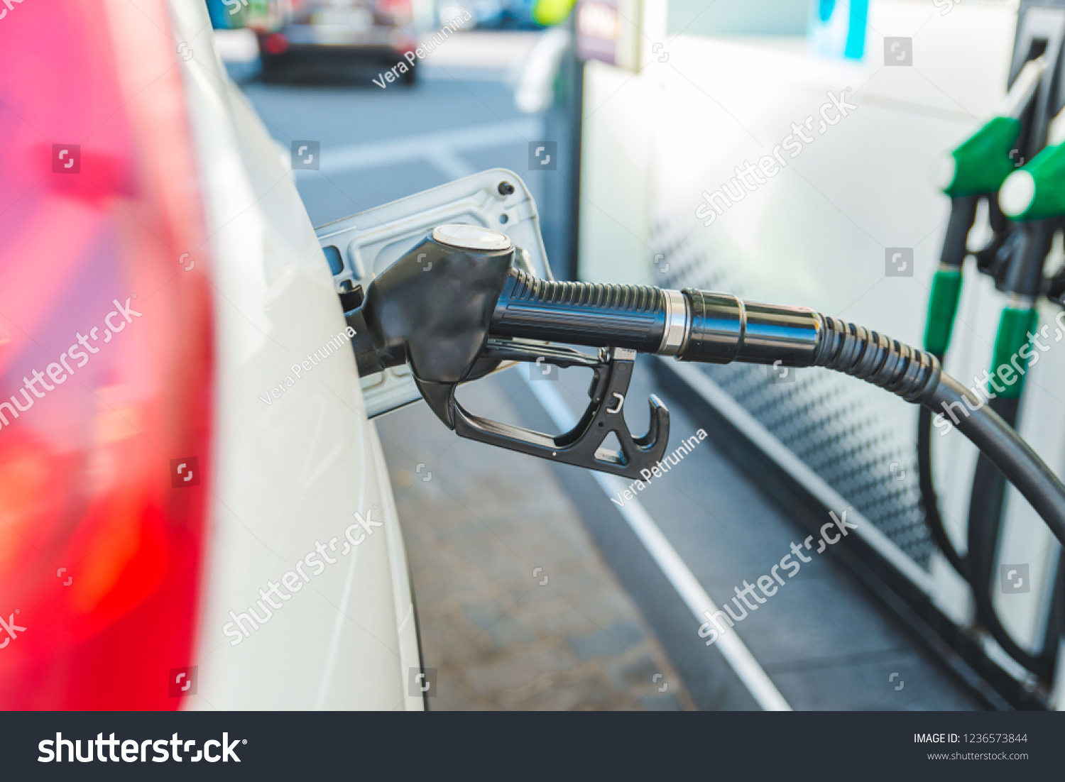 Gas Road Trip Refueling Car Gas Station Ready Long Stock Photo Edit Now