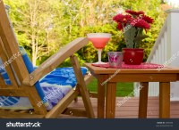 Relaxing On The Backyard Deck Stock Photo 3396390 ...