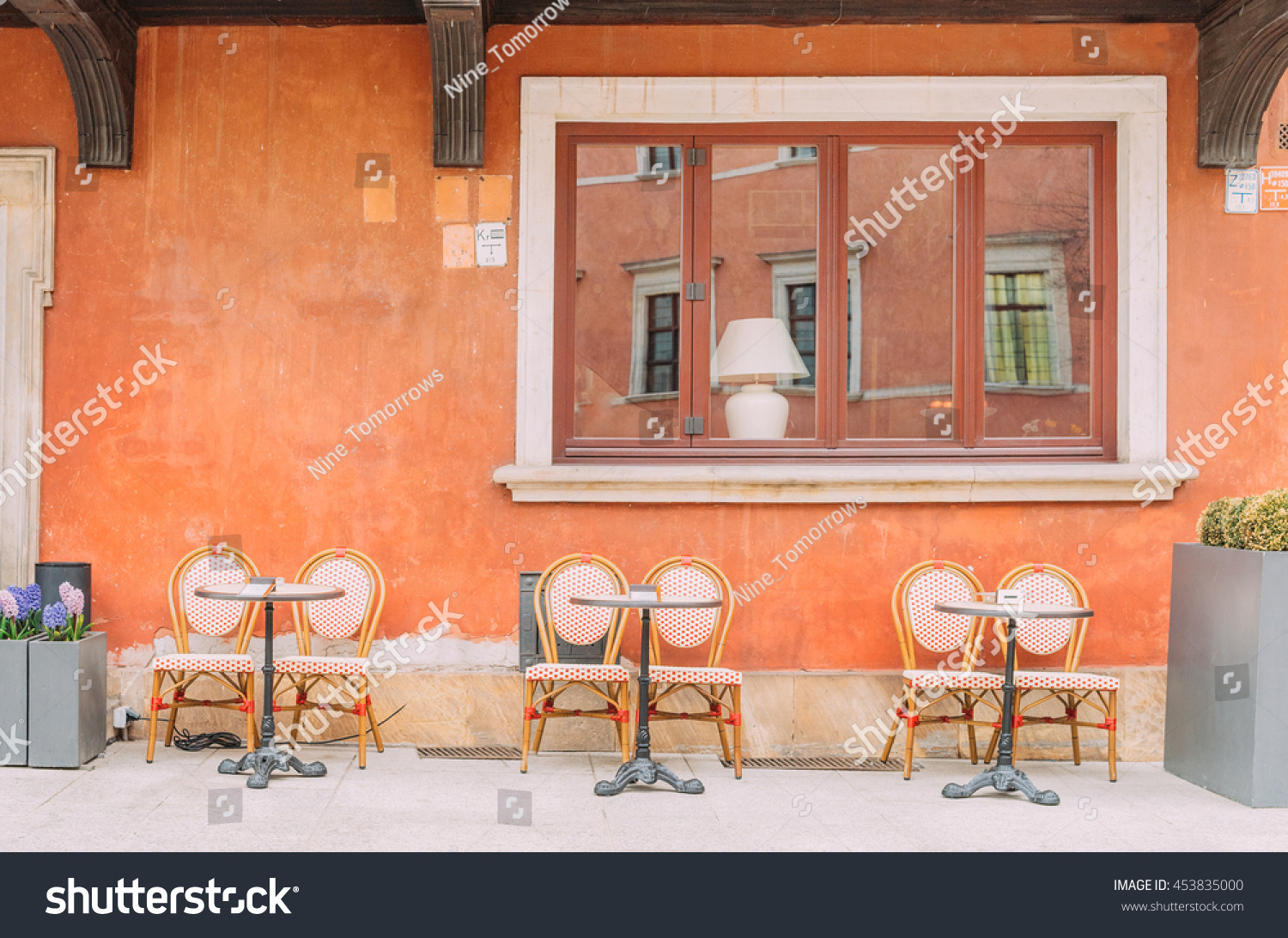Vintage Café Retro Vintage Cafe Terrace Interior Historical Stock Photo Edit
