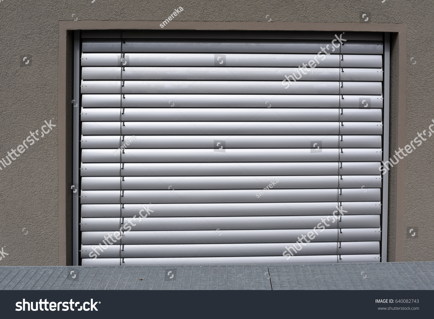 Basement Blinds Rigid Blinds Remote Control On Window Stock Photo Edit Now