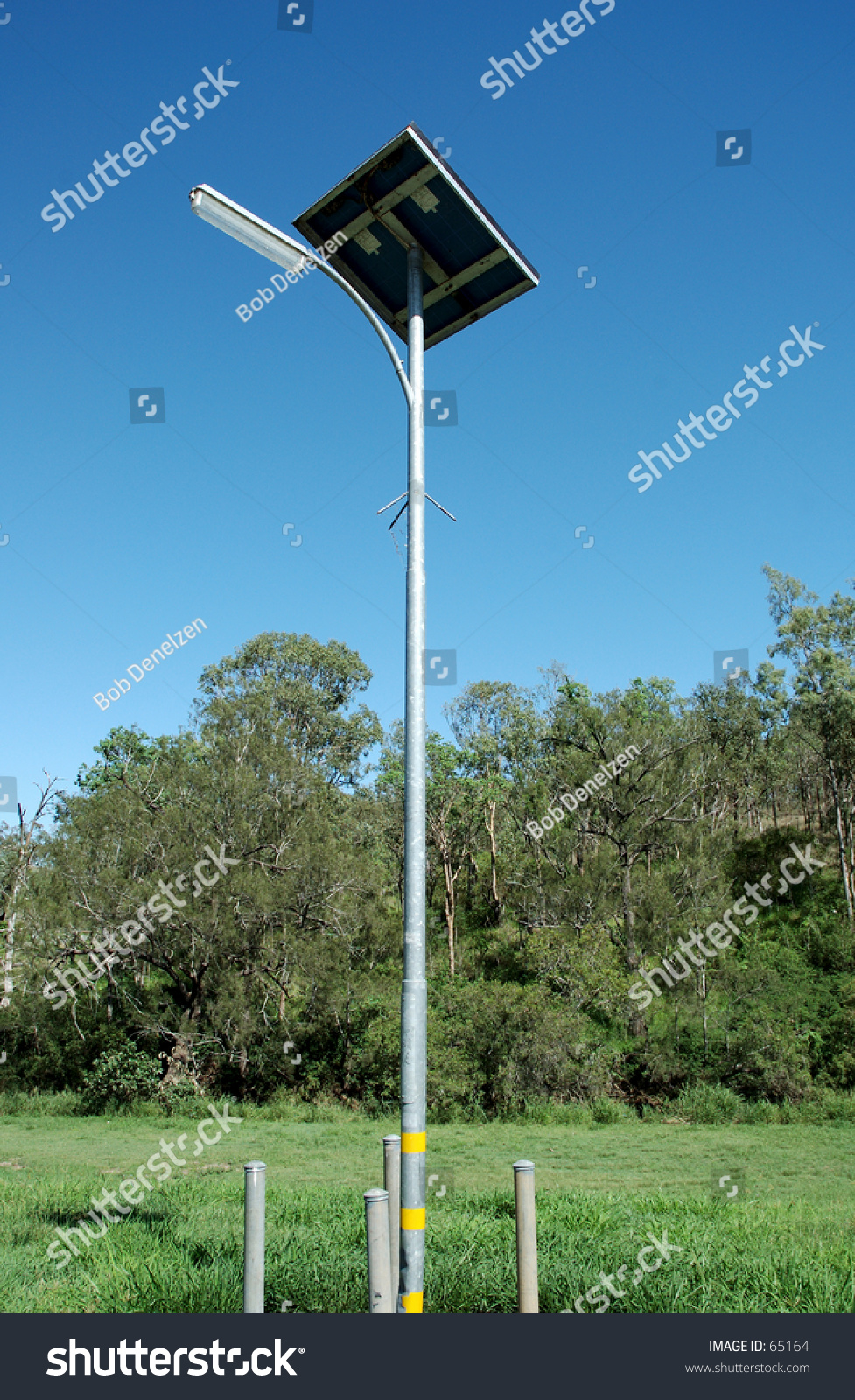 Solar Lights Australia Roadside Solar Lamp Queensland Australia Stock Photo Edit Now