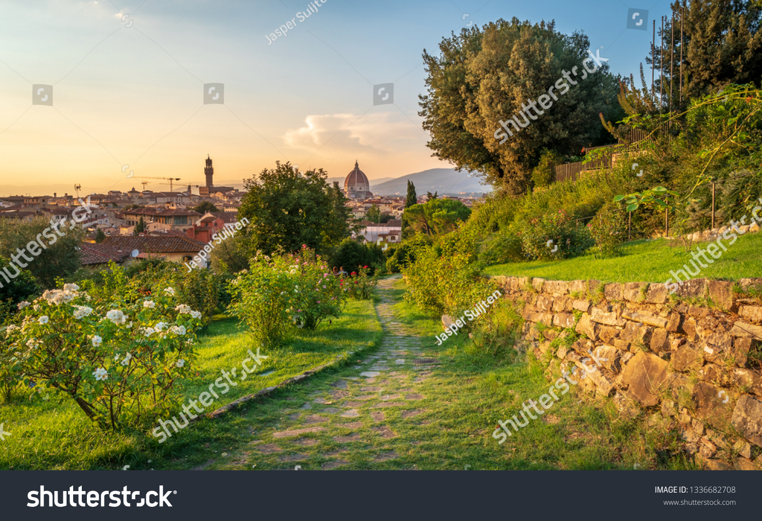 Romantic Florence Italy Seen Giardino Delle Stock Photo Edit Now 1336682708