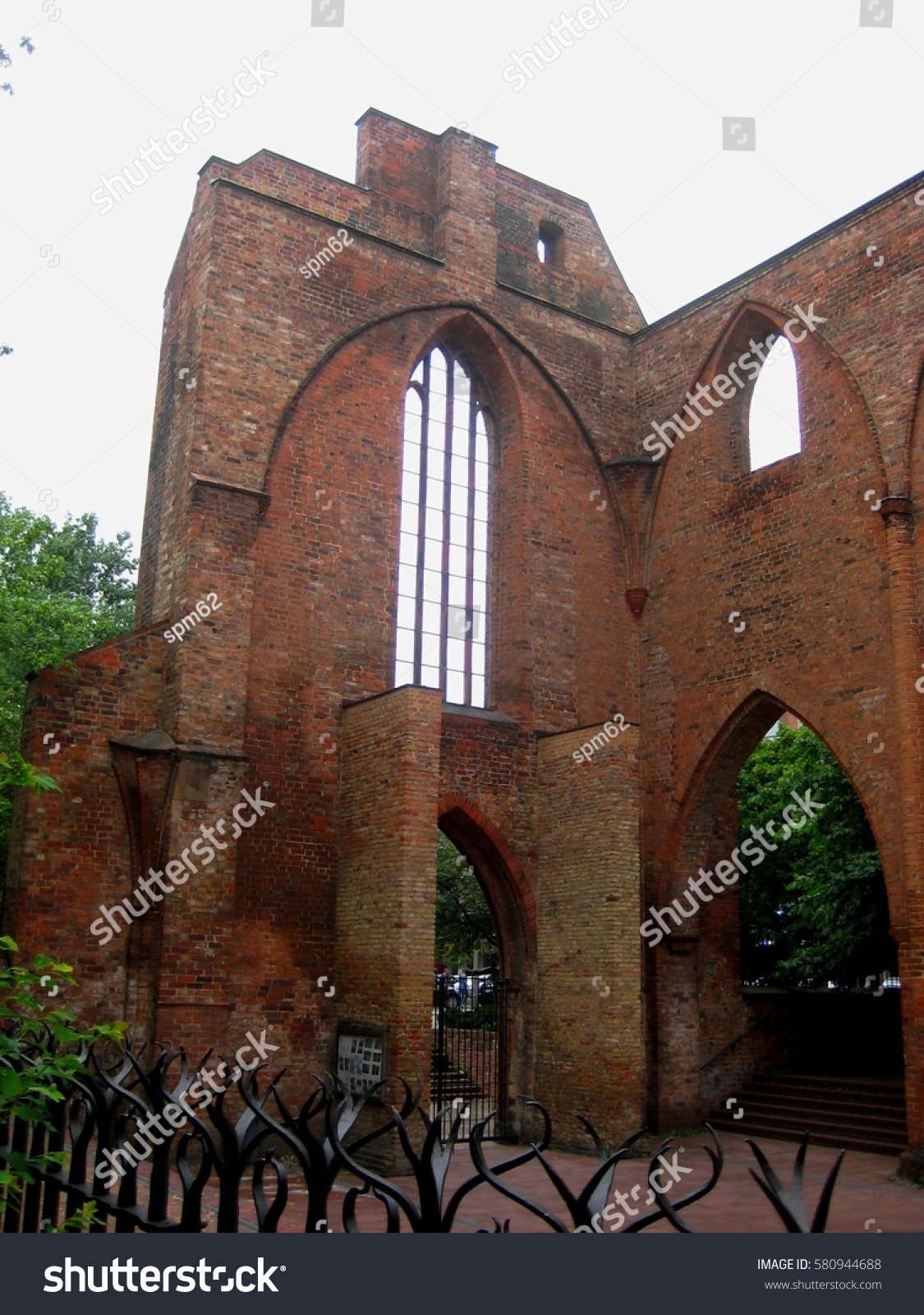 Berlin Gothic Ruins Franciscan Church Gothic Style Berlin Stock Photo Edit Now